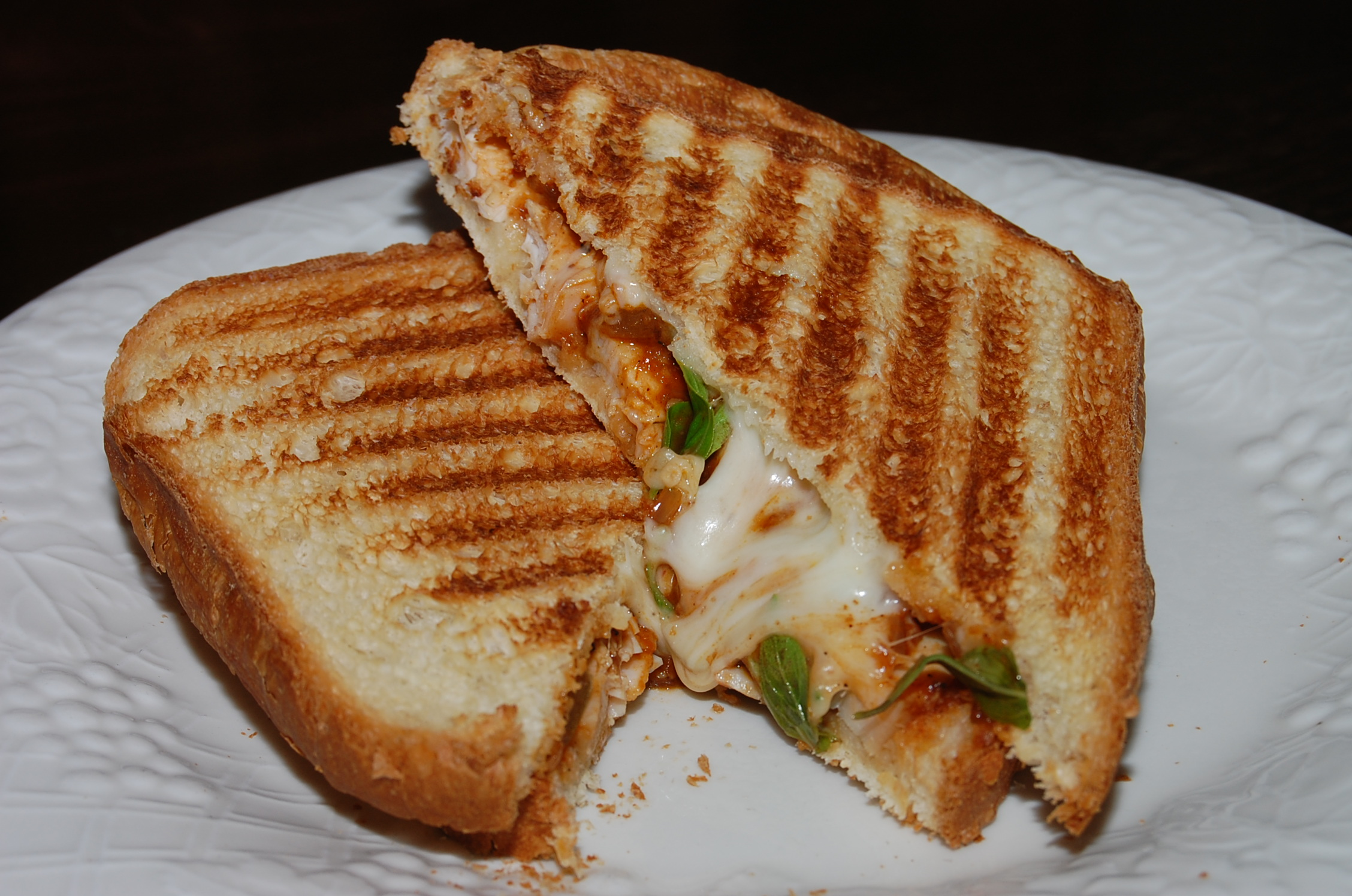 Roasted Chicken Tomato Basil and Mozzarella Panini | What's Up Brock